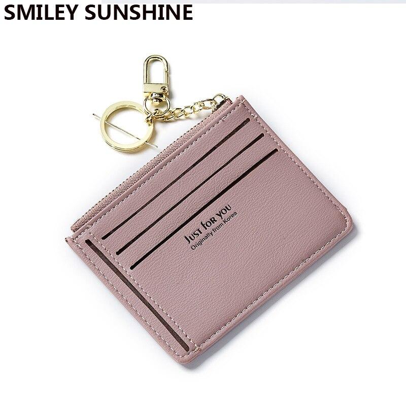 SMILEY SUNSHINE fashion business id tarjeta de crédito titular caja de tarjeta de Banco titular femenino delgado para tarjetas monedero porte carte