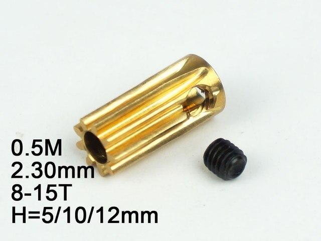 Modèle RC pignon en métal 0.5 M 2.3mm (diamètre du trou) 8 T/9 T/10 T/11 T/12 T/13 T/14 T/15 T hauteur 5mm/10mm/12mm