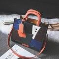 2017 новый цвет женская Мода Сумки Сумка lady кожа Сумка crossbody Посланник Сумки шить тенденция orange black