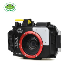 Seafrogs For Olympus TG-5 Case 60m/195ft TG5 Underwater Diving Camera Housing Waterproof with Dual Fiber-Optic ports
