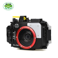 Seafrogs For Olympus TG 5 Case 60m/195ft TG5 Underwater Diving Camera Housing Waterproof Case with Dual Fiber Optic ports