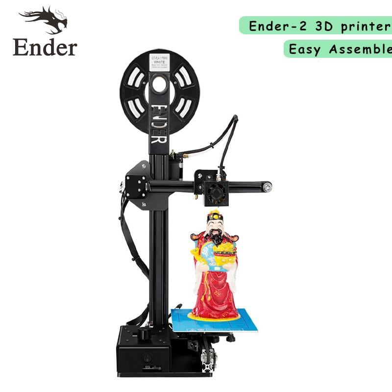 2017 Newest! Ender-2 3D printer DIY KIT Reprap prusa i3 Full Metal Frame Creality printer 3d machine free filament+8G SD card ante a8 new reprap 3d printer prusa i3 precision with 2 roll kit diy easy assembly filament machine hotbed sd card lcd screen