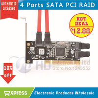 Free Shipping 1pcs Brand New 4 Port SATA PCI CONTROLLER RAID CARD 4 SATA SERIAL ATA