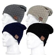 2017 New Fashion Beanie Hat Cap Wireless Bluetooth Earphone Smart Headset Speaker Mic Winter Outdoor Sport Stereo Music Hat