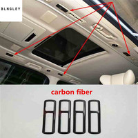 4pcs/lot ABS carbon fiber grain rear car ceiling Sunroofs air conditioning outlet decoration cover for 2015 2019 Toyota Alphard