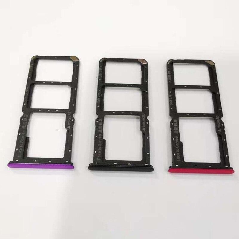 10 Pcs 100% Origineel Voor Oppo F9 Sim Card Tray + Micro Sd Adapter Socket Houder Slot Reparatie Onderdelen Drie Kleuren Comfortabel Gevoel