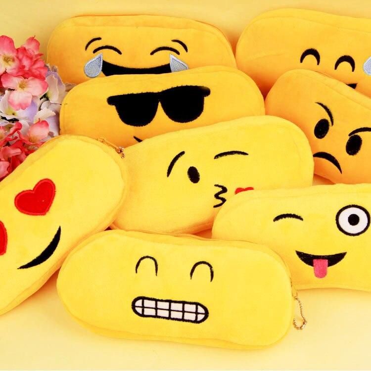 Cute Kawaii Funny Cartoon Emoji Expression Sponge Pencil Case Creative Pen Bag Novelty Pencil Bag For Gift Korean Stationery