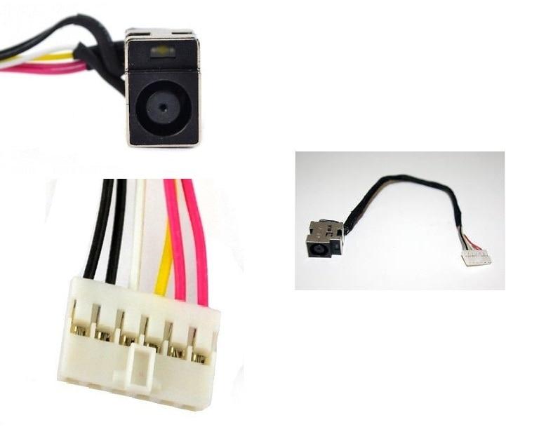 WZSM Nueva toma de alimentación de CC para computadora portátil con cable para HP Pavilion DV7-2000 para Compaq Presario DV5 DV6 CQ61 CQ61Z CQ71
