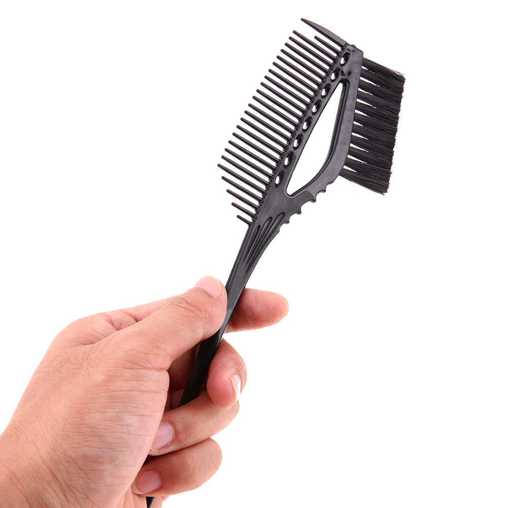 Duplo lado tintura de cabelo coloração escova pente salão de beleza cabeleireiro estilo escova de cabelo profissional tintura de cabelo pincel