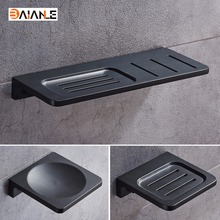 Space Aluminum Black Soap Dish Wall Mounted Bathroom Accessories Product  Holder Free Shipping