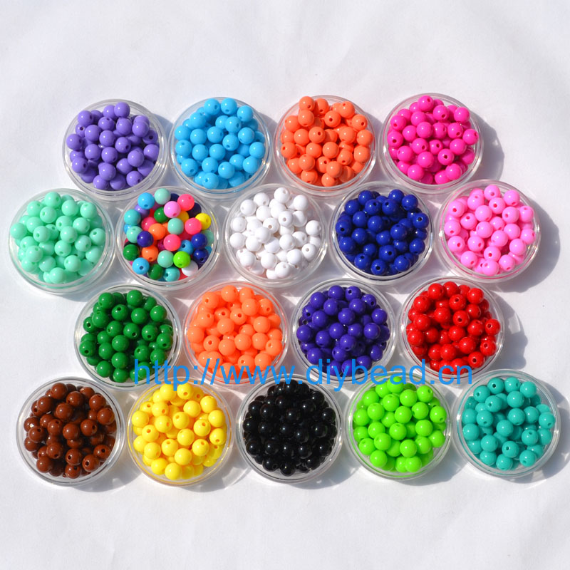 Bracelet-Accessories Jewelry-Findings Sugar-Beads Handcraft Gift DIY Acrylic 8MM 18-Color title=