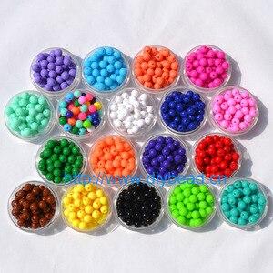 Produção de joias, acessórios diy, pulseira, presente para crianças, artesanato, temático de 18 cores, 8mm de forma redonda, achados de joias de contas de açúcar acrílico com 100 peças