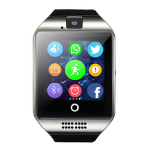 Free Shipping Smart Watch Q18 MP3 Music Player With Touch Screen Passometer Camera TF Card Bluetooth Smartwatch For Android IOS