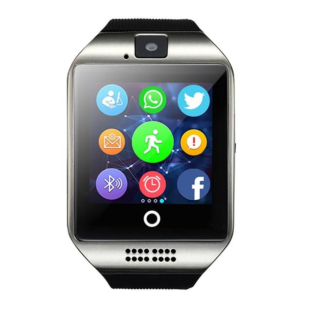 送料無料スマート腕時計 Q18 MP3 音楽プレーヤー画面歩数計カメラ TF カード Bluetooth スマートウォッチ Android IOS