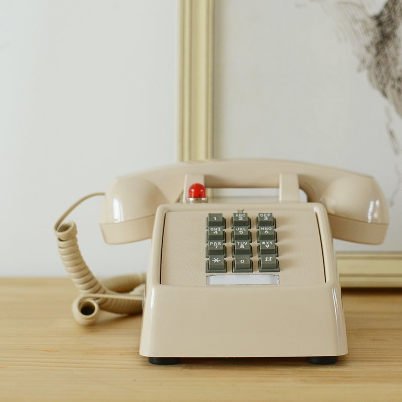 Retro Metal Desk Rotary Dial Telephone Phone French Style 1//12 House Decor