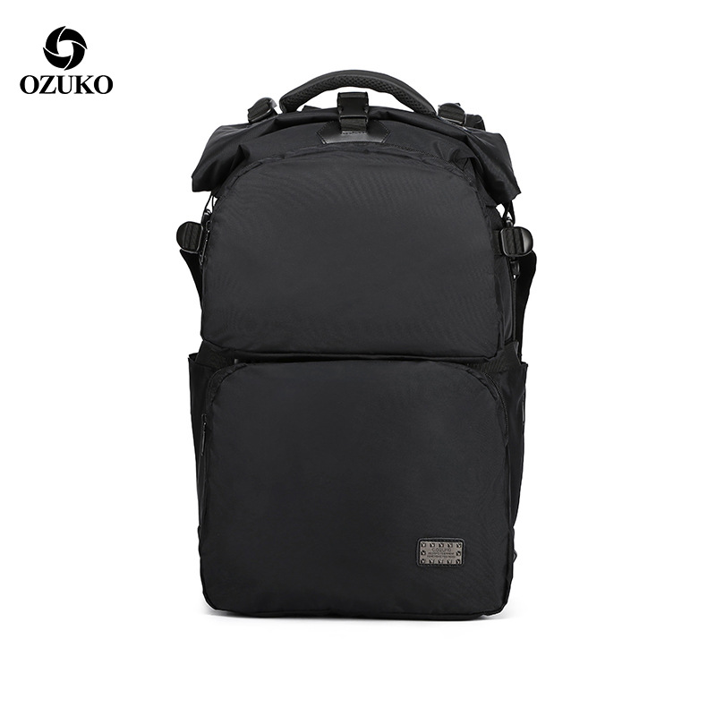 Ozuko Fashion Usb Charging Solid Backpack Waterproof Multi-function Computer Bag Teenager Anti-Theft Travel Bag Student Book BagOzuko Fashion Usb Charging Solid Backpack Waterproof Multi-function Computer Bag Teenager Anti-Theft Travel Bag Student Book Bag