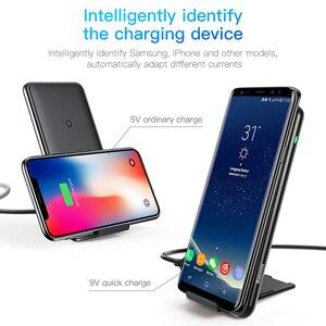 Image 5 - Baseus チー 10 ワット 3 コイルワイヤレス充電器は、高速充電器 iphone × 三星銀河 S9 携帯電話充電器電話