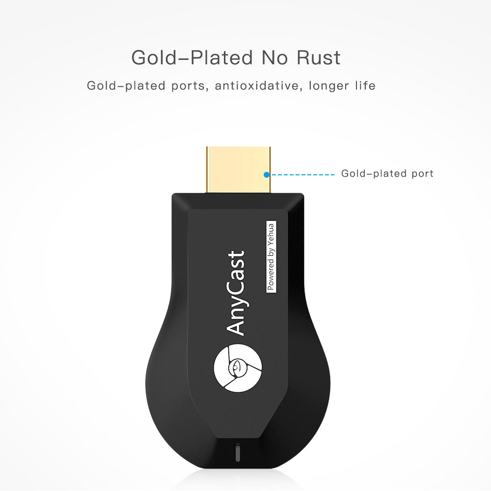 AnyCast M4 Plus Wireless HDMI WiFi Display Dongle Receiver 1080P HD Interface TV Stick DLNA Airplay Miracast for PC Android