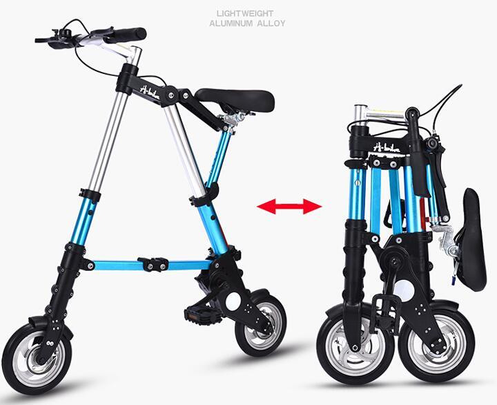 Factory Direct Sale 10-inch Latest Upgrade Mini Ultra Light Folding Bicycle Aluminum Portable Mountain Bike