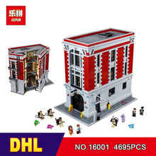 DHL LEPIN 16001 4705Pcs Ghostbusters Firehouse Headquarters brinquedos Model set Building Kits Model Compatible 75827(China)