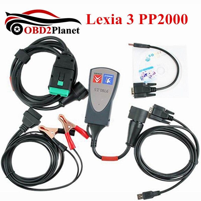 Lexia 3 PP2000 Diagbox 7.83 puce complète Lexia3 Firmware 921815C pour citroën pour Peugeot outil de Diagnostic Support multi-langues