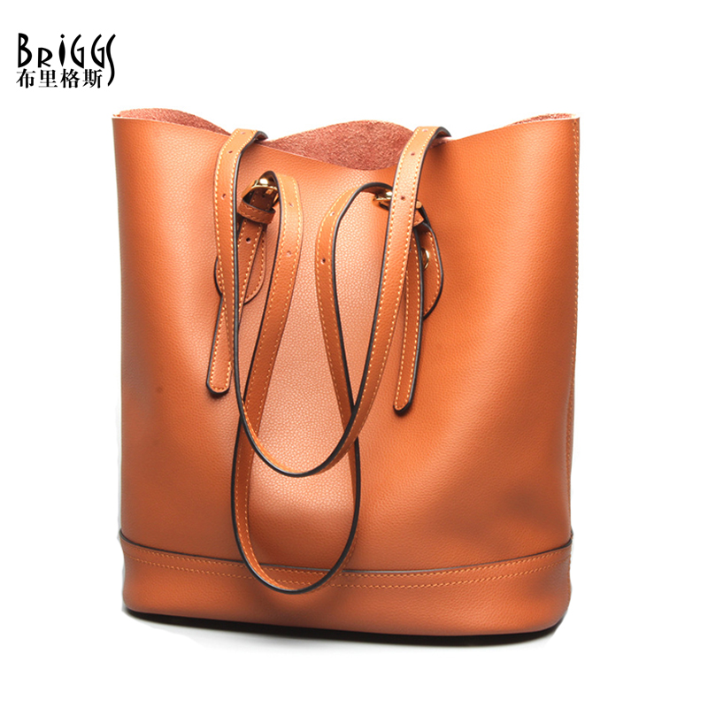 BRIGGS Brand Luxury High Quality Genuine Leather Designer Composite Bags  Women Messenger Bags Ladies Shoulder Bags B-1654A fbaba8b566291