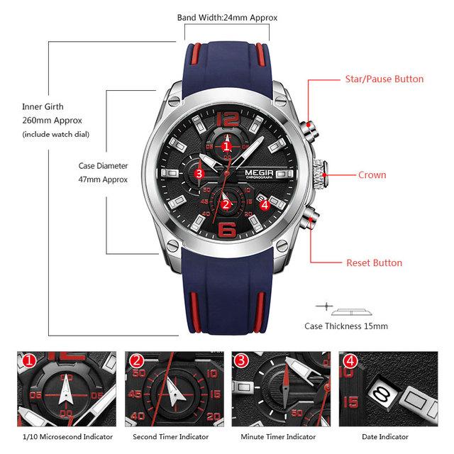 Sport Chronograph Analog Quartz Watch