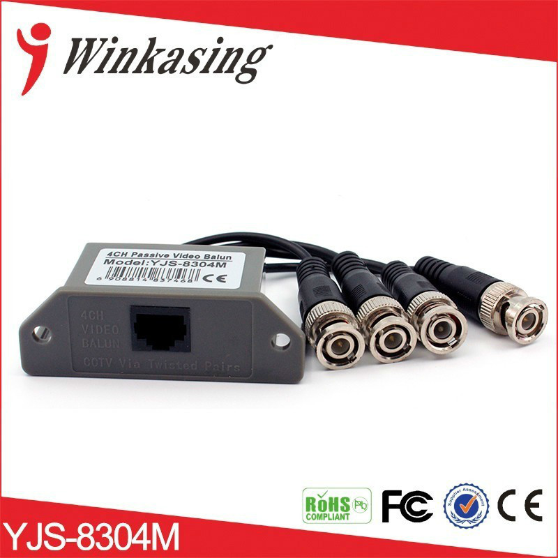Free Shipping Wholesale 4 ch passive Video Transceiver RJ45 and BNC Video Balun for CCTV anna karenina