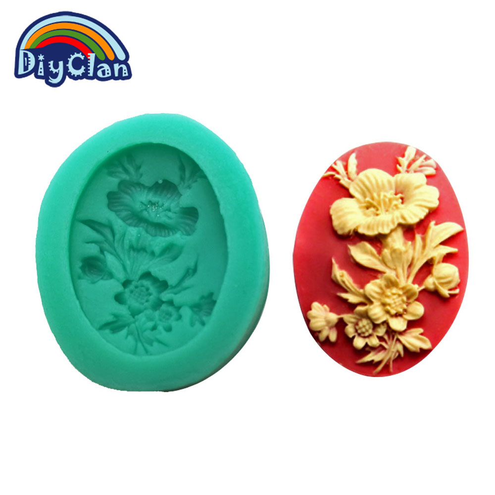 DIY silicone molds for cake decorating fondant mold flower style chocolate mini sugar candy mold kitchen F0008HM35 in Cake Molds from Home Garden