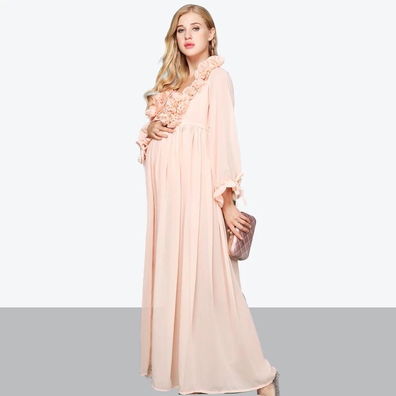 escursioni a piedi perlaceo Discoteca  maternity dresses for photo shoot pregnant women elegant long dress 3d  floral unique pregnancy clothes photography props dress|Dresses| -  AliExpress