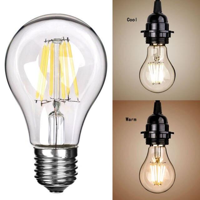 100pcs Dhl Free Ship Ac 220v E27 Warm Light Cool White Edison Led Filament Cob Bulb