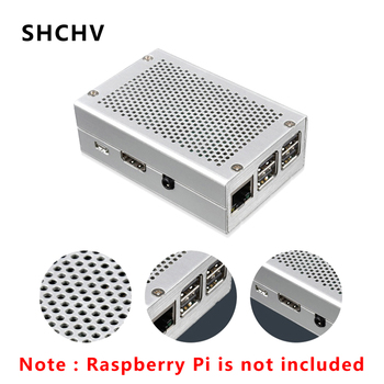 For Raspberry Pi 3 Case Aluminum Case Shell Silver Metal Box Enclosure Compatible with Raspberry Pi 3 Model B 3B Plus