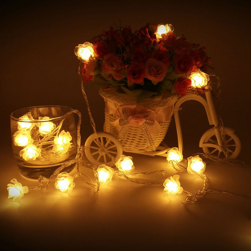 Aliexpress Buy 5m 10m 20m 30m 50m Rose Flower CHRISTMAS Lights