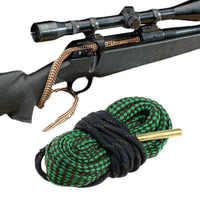 Caccia Gun Bore Cleaner Snake.22 Cal.223 Cal.38 Cal e 5.56 millimetri, 7.62 millimetri, 12GA Fucile Kit di Pulizia Strumento di Canna del Fucile Calibro Serpente Corda