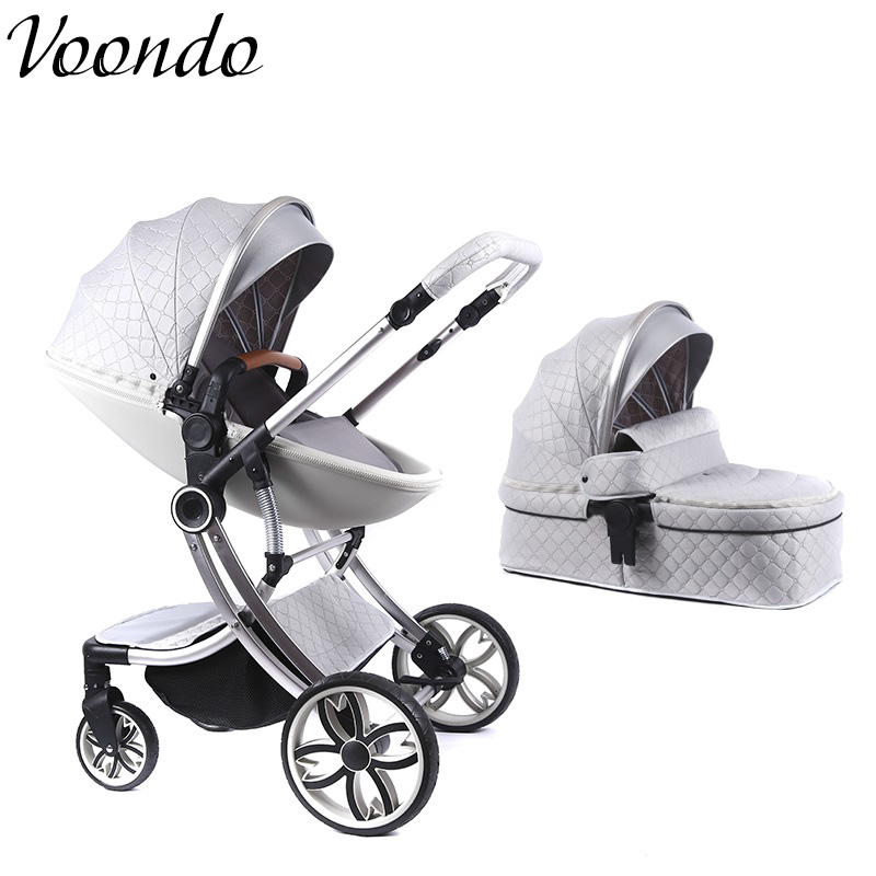 Voondo  Stroller Is Available, Lying And Folding, Tall And Portable To Look, Double-sided Newborn Shock Absorber 0-4 Months