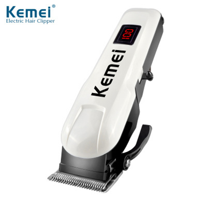 Kemei Rechargeable hair Clipper Machine Professional LCD Display Hair Trimmer Cordless Electric Hair Clipper KM-809A