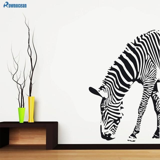 wohnzimmer kunst wandgestaltung, rownocean zebra wandaufkleber steuern dekor wohnzimmer große, Design ideen