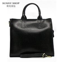 Sunny shop hohe qualität 100% aus echtem leder modefrauentasche markendesigner echtem leder tasche