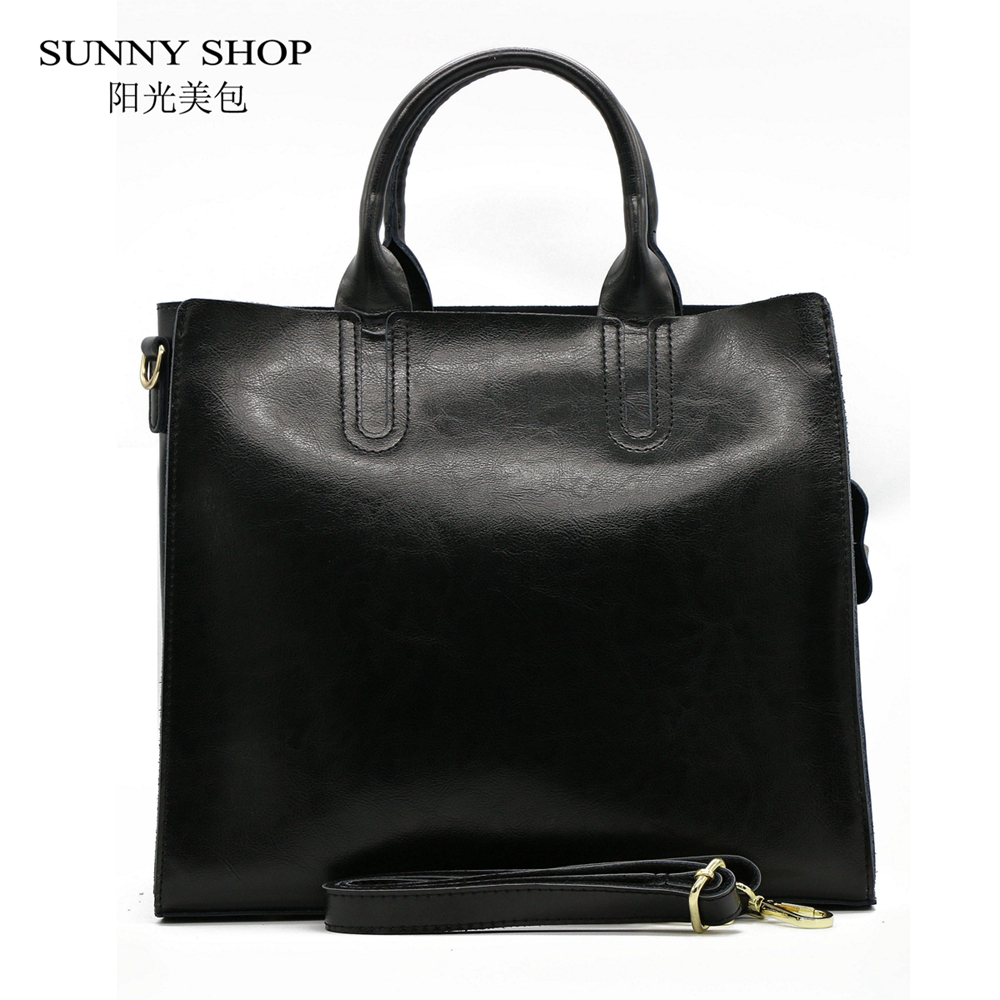 SUNNY SHOP High Quality 100% Genuine Leather Fashion Women Bag  Brand Designer Real Leather Bag  christmas aiweiyi womens high quality genuine leather real fur 100