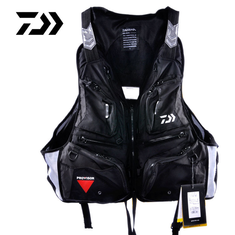 NEW Daiwa Fishing Life Jacket Vest Man Outdoors Light Multi-Function Breathable Fishing Veat
