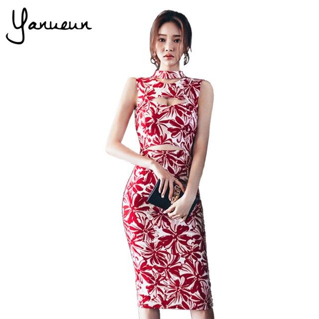 Yanueun Corea Moda Vestido de Las Mujeres Del Verano 2017 Impreso ...