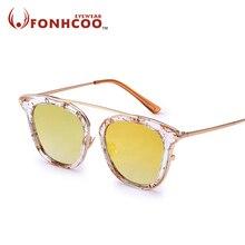 2017 FONHCOO NEW Fashion Luxury Sunglasses Women Flap Top Summer Style Brand Designer Female Sun Glasses UV400 Oculos de sol
