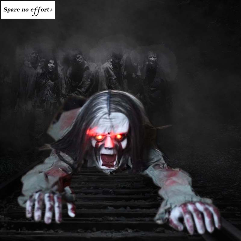 Devil Horror Halloween Ghost Crawl Ghost Light Up Eyes Electric Spooky Skull Haloween Creepy Ghost Zombie Scary Halloween Decor Party Diy Decorations Aliexpress