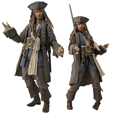 Pirates of The Caribbean Captain Jack Sparrow Action Figure Johnny Depp Collectible Model Toy SHFiguarts 15 CM цена 2017