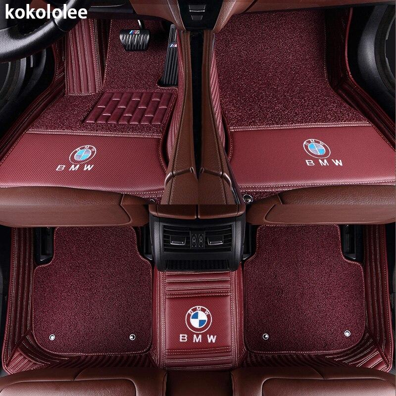 Kokololee Personnalisé tapis de sol voiture pour bmw f10 x5 e70 e53 x4 f11 x3 e83 x1 f48 e90 x6 e71 f34 e70 e30 z4 x2 étanche accessoires - 3