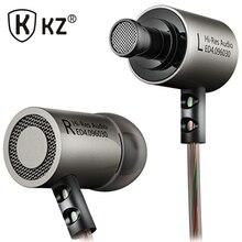 KZ ED4 Earphones DJ MP3 auriculares Metal Stereo Noise Isolating In-ear Earphone Music Auriculares fone de ouvido DJ audifonos