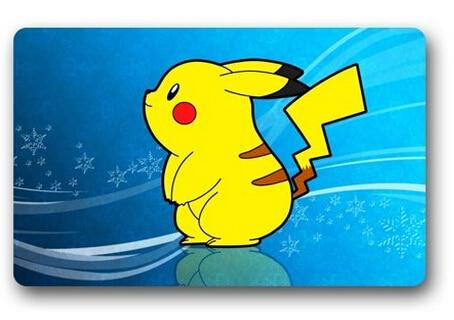 Hot Sale Custom Pokemon Pikachu Door Mat Art Design