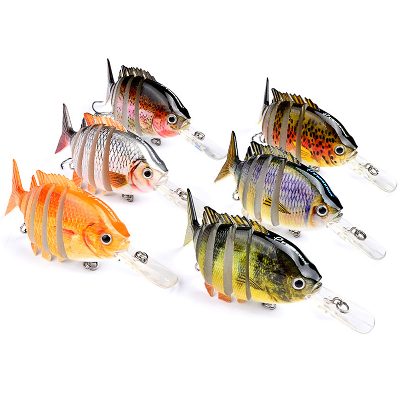 1Pcs Fishing Lure Wobbler Treble Hard Bait 10cm 14g 6 Segment Isca Artificial Crankbait Swimbait Fishing Tackle WQ8037 crankbait fishing lure 112mm 14g hard bait wobbler crank bait minnow lure 1 2 3 5m artifical peche with treble sharp hook