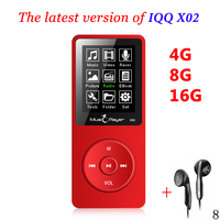 Hot IQQ X02 MP3 Music Player 16GB Time 80 Hours Lossless MP3 Player Mp 3 Hifi