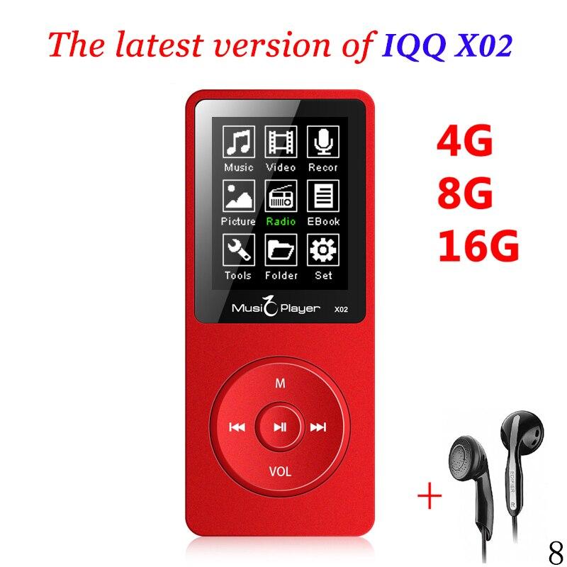 Горячие iqq X02 MP3 музыкальный плеер 16 ГБ время 80 часов без потерь MP3 плеер MP-3 hifi-плеер Reproductor MP3 16 ГБ Walkman Hi-Fi динамик